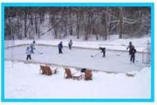 Click here to learn how to build a backyard ice rink